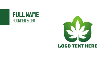 Cannabis Leaf Pattern Business Card