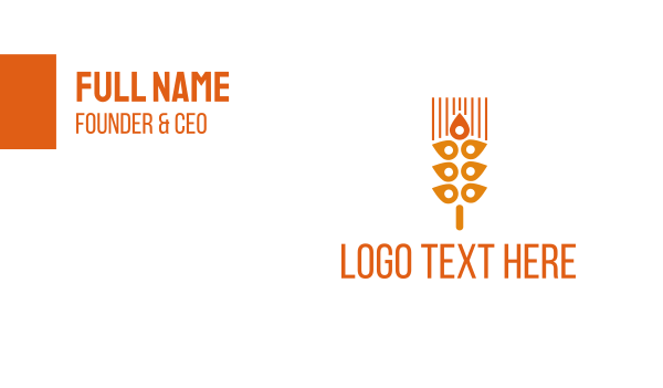 cereal - Wheat Spot Business card horizontal design