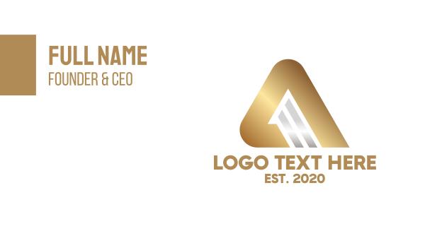 bronze - Modern Bronze Letter A Business card horizontal design