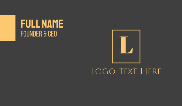 accommodation - Gold Text Emblem Business card horizontal design