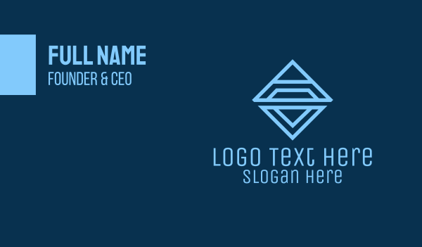 Triangle Diamond Business Business Card