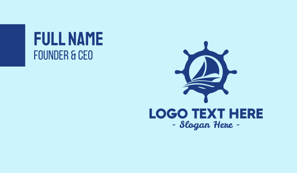 helm - Sailboat Boat Helm Business card horizontal design