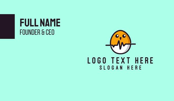 farm animals - Pulse Chick Business card horizontal design