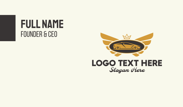 luxury car - Luxury Car Emblem  Business card horizontal design