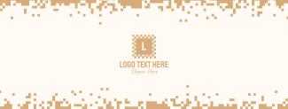 Retro Digital Pixel Facebook cover