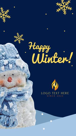 Happy Winter Facebook story