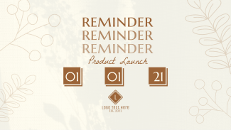Reminder Product Launch Facebook event cover