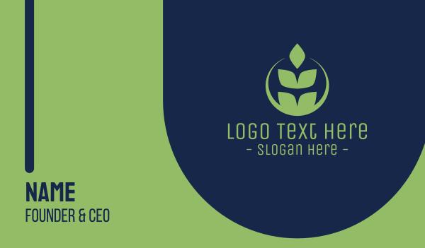 grain - Organic Green Wheat Business card horizontal design