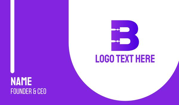 repairman - Bold Repairman B Business card horizontal design