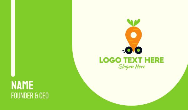 carrot - Carrot Car Business card horizontal design