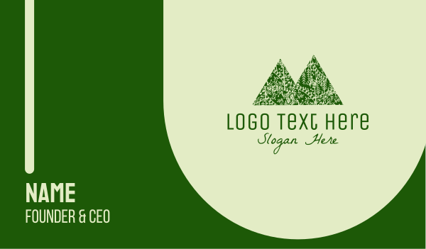 eco park - Green Forest Mountain Business card horizontal design