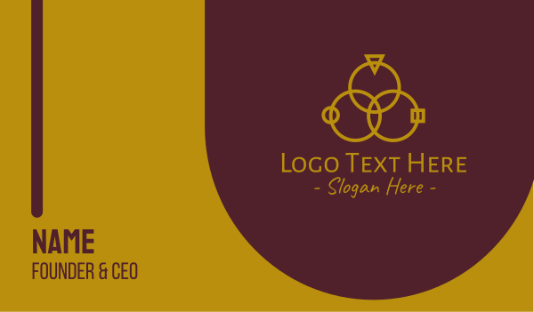 wedding ring - Luxury Rings  Business card horizontal design