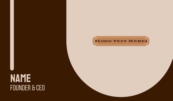 barn - Rodeo Wordmark Business card horizontal design