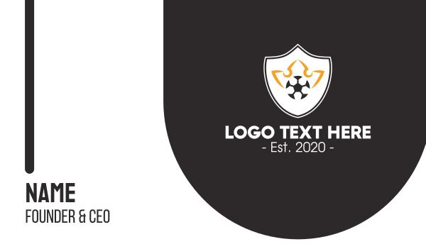 tourney - Soccer Club Crest Business card horizontal design