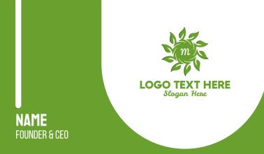 Organic Solar Energy Lettermark Business Card