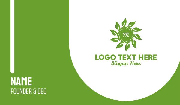 solar - Organic Solar Energy Lettermark Business card horizontal design