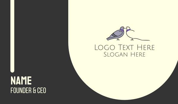 Pigeon Bird Dating Couple Business Card