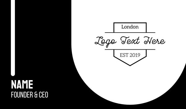 uk - London Brand Business card horizontal design