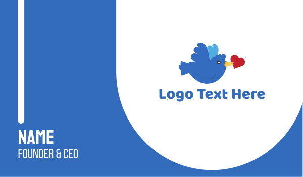 tweet - Bird Love Business card horizontal design