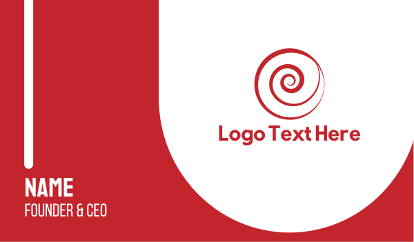 portal - Red Spiral Business card horizontal design