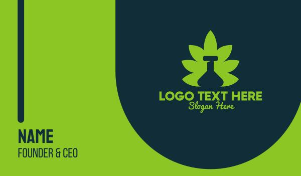 marijuana leaf - Marijuana Leaf Bottle Business card horizontal design