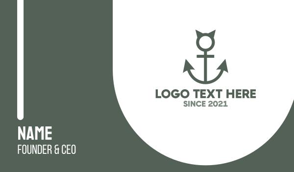 beach bar - Devil Anchor Business card horizontal design