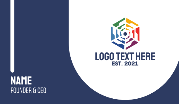 lgbtiq - Polygon Wheel  Business card horizontal design