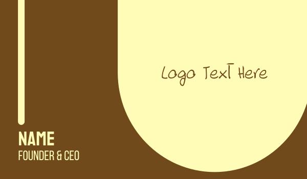 limo - Handwritten Brown Text Font Business card horizontal design