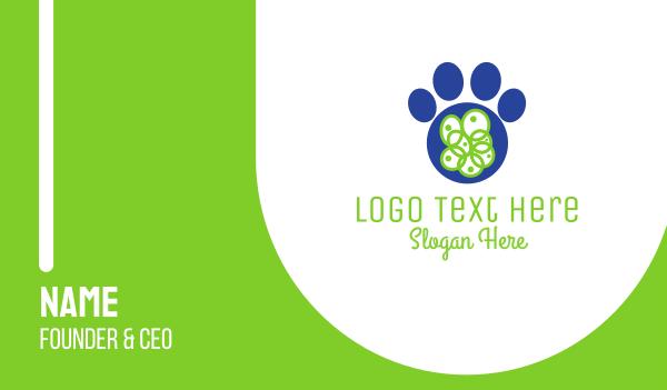 blue dog - Blue Paw Business card horizontal design