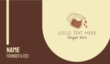 Coffee Maker Outline Business Card