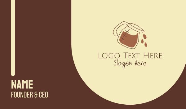 mocha - Coffee Maker Outline Business card horizontal design
