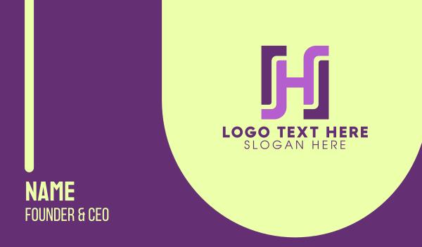 rectangle - Modern Rectangle H Business card horizontal design