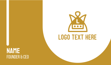 Gold Monarchy Lettermark Business Card