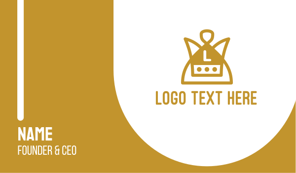 jewel - Gold Monarchy Lettermark Business card horizontal design