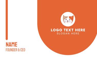 Pet Cat Lover Business Card