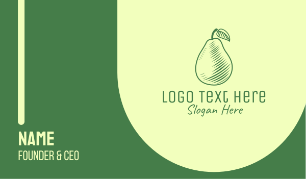 pear - Green Pear Business card horizontal design