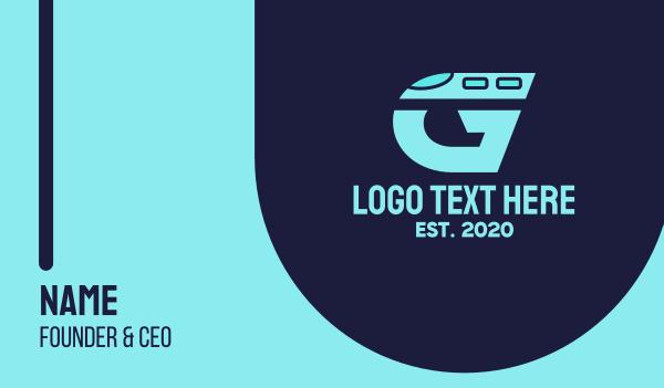 metro - Train Letter G Business card horizontal design