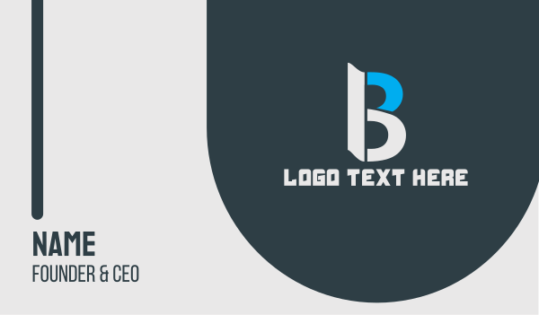 business software - Generic Professional Letter B Business card horizontal design