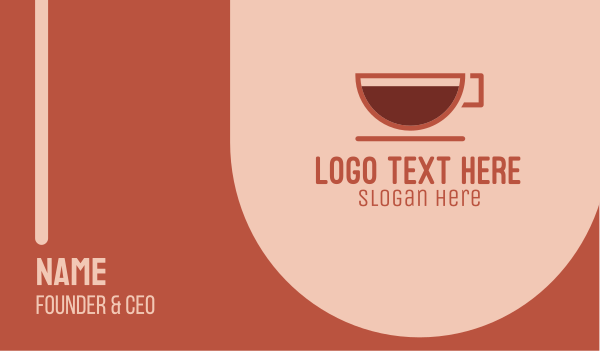 full - Espresso Coffee Cup  Business card horizontal design