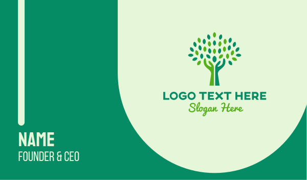 orchard - Green Tree Hands  Business card horizontal design