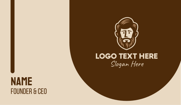 beard - Lush Beard Man  Business card horizontal design