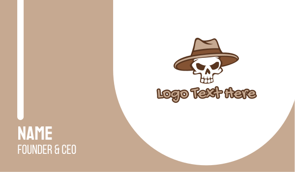undead - Fedora Skull Hat Business card horizontal design