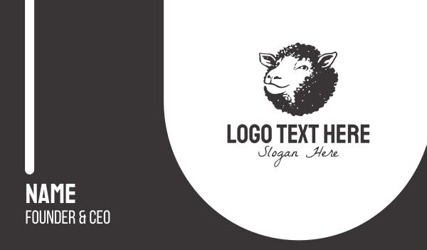 brandy - Black Sheep Business card horizontal design