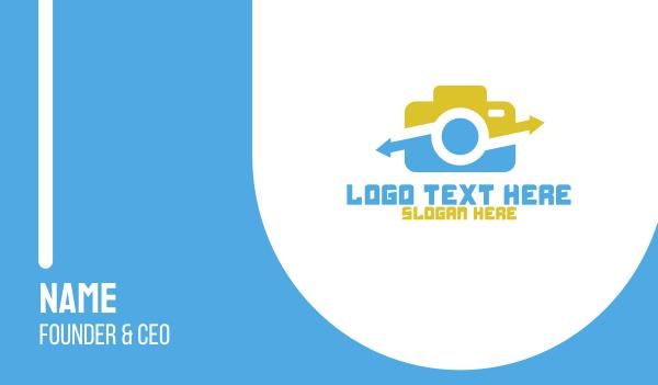file sharing - Photo Sharing App Business card horizontal design