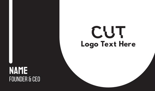 trim - Cut Text Font Wordmark Business card horizontal design