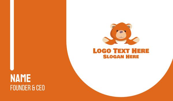 plushie - Orange Teddy Business card horizontal design