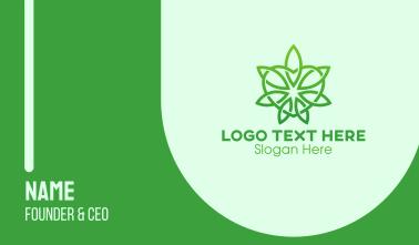 Green Cannabis Heart  Business Card