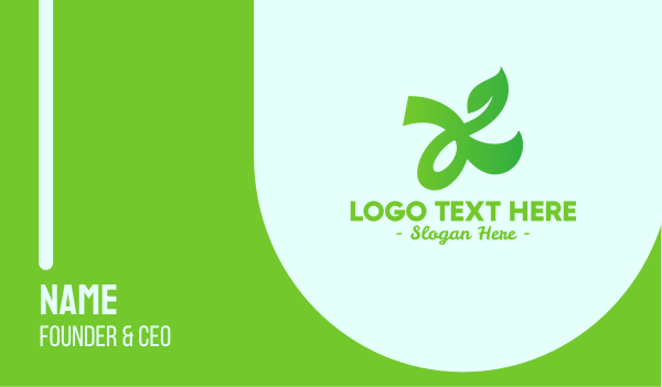 ecology - Herbal Tea Letter K Business card horizontal design