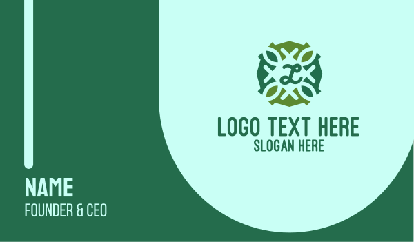 Organic Lettermark Business Card
