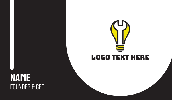 light bulb - Lamp Repair Business card horizontal design